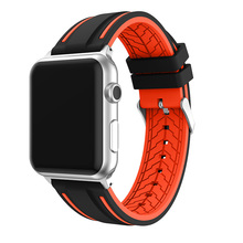 Bracelet strap For Apple Watch Silicone Sports Watch Band Replacement 38/42mm Series 1/2 Watchband
