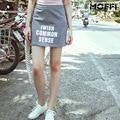 Estación de Europa MOFFI 2016 Del desgaste Del Verano Nuevo patrón mujeres joker gris tejer raya Corta falda paquete falda de La Cadera