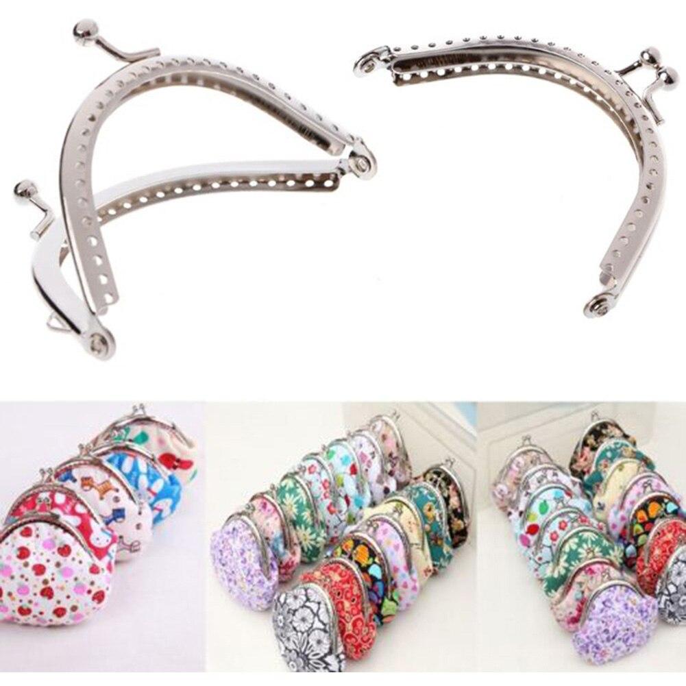 Metal Sewing Holes Handbag Clutch Coin Purse Bag Frame Kiss Clasp Arch Bag Accessorries Retro Bag Lock For Purse Wallet