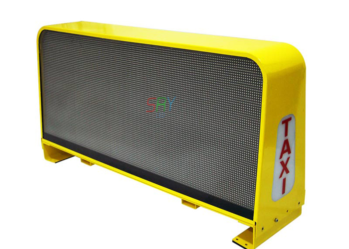 New Product 3G controller taxi top led display sign P5 double sides led sign 960mm x 320mm