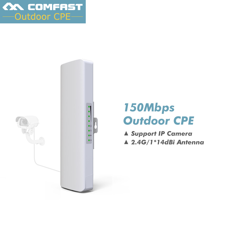 2KM Long Range Wireless Outdoor CPE,150Mbs WIFI Repeater WIFI Signal Booster&Wifi Amplifier Outdoor AP COMFAST CF-E214N 48V POE mbs ruta 150 white