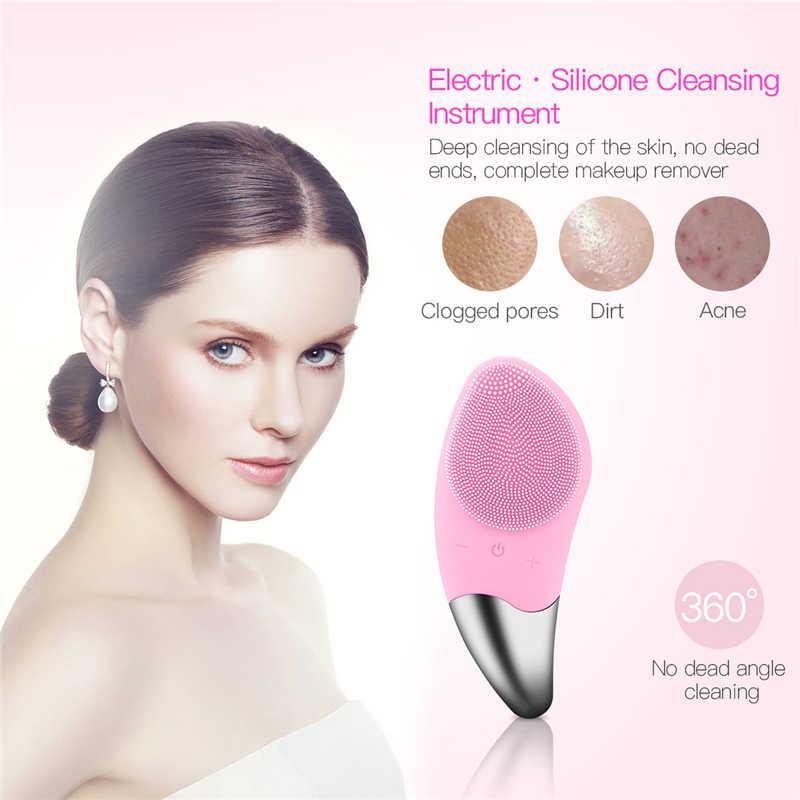 ミニ電気洗顔ブラシシリコーン顔クリーナーディープポアクリーニングマッサージ洗顔ブラシデバイス