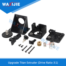 Upgrade Titan Extruder Ratio 3:1 For 3D Printer Parts Nema 17 Stepper Motor 1.75mm Filament V6 J-head Bowden Mounted Bracket reprap kossel 3d printer aluminum alloy bowden extruder for 1 75 3 mm filament including 42 stepper motor
