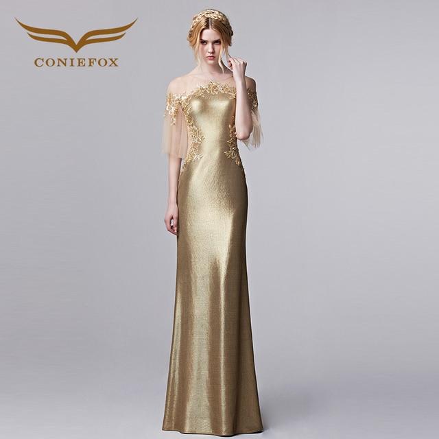 Aliexpress.com : Buy Coniefox Luxury Half Sleeve Evening Dress Round ...