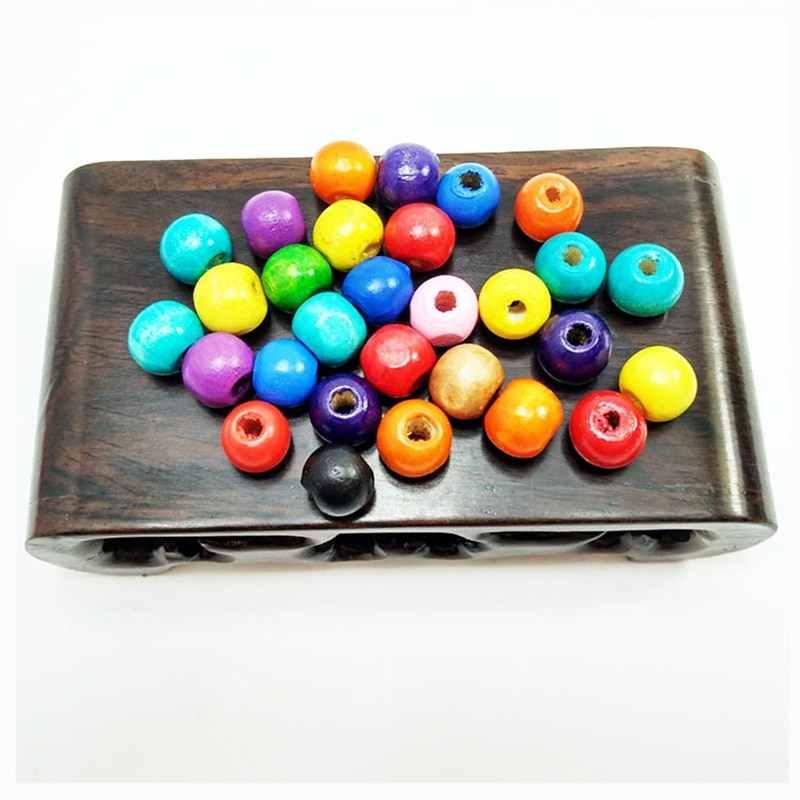 Kayu Alami Longgar Spacer Beads untuk Perhiasan Membuat Gratis Pengiriman 10 Mm 100 Pcs DIY Grosir