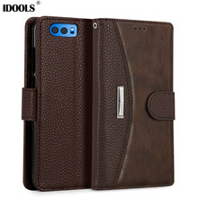 hot deal buy case for huawei honor 9 stf-al00 5.15 inch pu leather covers wallet phone bags cases for huawei honor 9 idools original coque