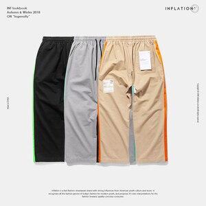 Image 5 - Pantalones rectos informales por los lados de fluorescencia inflados, ropa de calle, estilo Hip hop, pantalones holgados de corte Cargo, pantalones de marca de algodón de 8863W