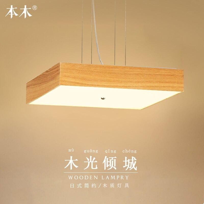 Изящные изделия в японском стиле подвесной светильник с деревянным каркасом led luminarias para sala dimming led подвесной светильник 110 240 В