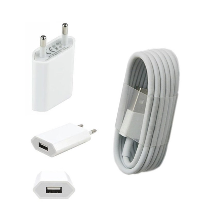 Original For Iphone 6 6plus 7 5 5s 5c SE Power Charger Adapter & 8pin USB Charging Charger Cable For IPHONE Mobile phone charger