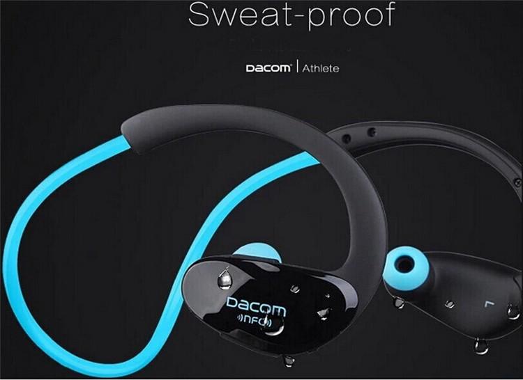 Dacom NFC Cordless Ear Hook Sport Bluetooth 4.1 earpiece Sweatproof Wireless Hifi Bass Headphones With Microphone (4)