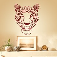 Large Tiger Face home decoration Vinyl Wall Decal Livingroom Wall Sticker adesivo de parede wall Decor stickers mural 24H X19W