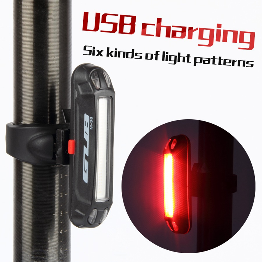 Bicycle Tail Light Lamp LED Cycling Bike Rechargeable Seatpost Back Rear Light  Safty Warning Waterproof