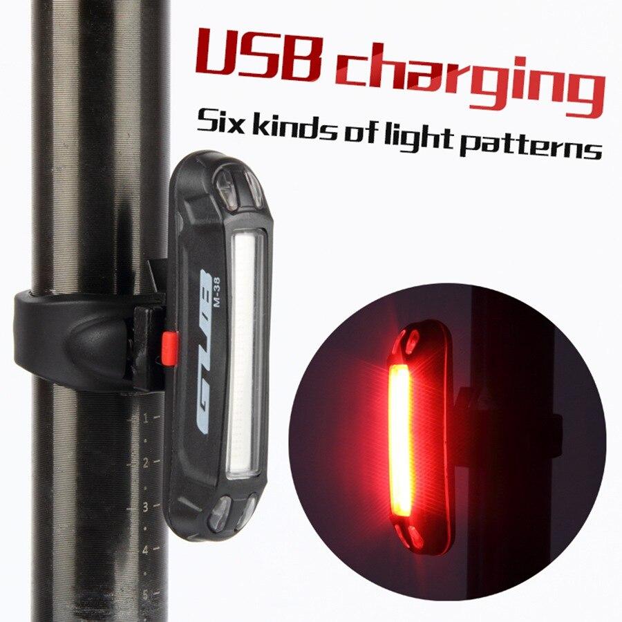 Queue de bicyclette lumière Lampe LED Vélo Vélo Rechargeable Tige de Selle Arrière Arrière Lumière Safty Avertissement Étanche