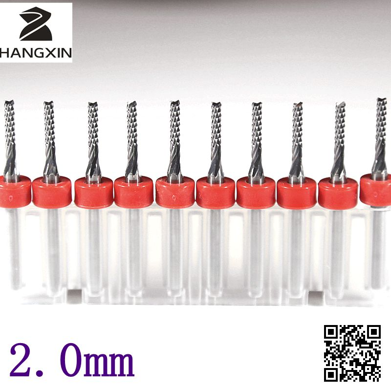 2.0mm Strawberry Swallowtail PCB Milling Cutter 10PCS Milling Machine CNC Cutting Machine CNC Router Tools Micro Engraving Drill new hsk grammar succinctly scouring 6