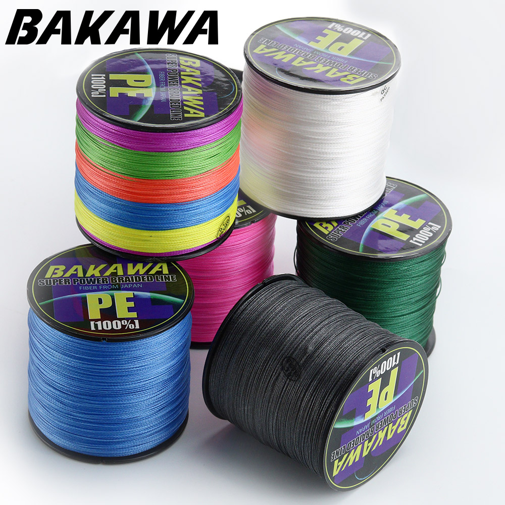 BAKAWA 4 Braided Fishing Line 8 Strand 150M 300M 100% PE Multifilament cord SuperPower good for Carp Fish linha multifilamento