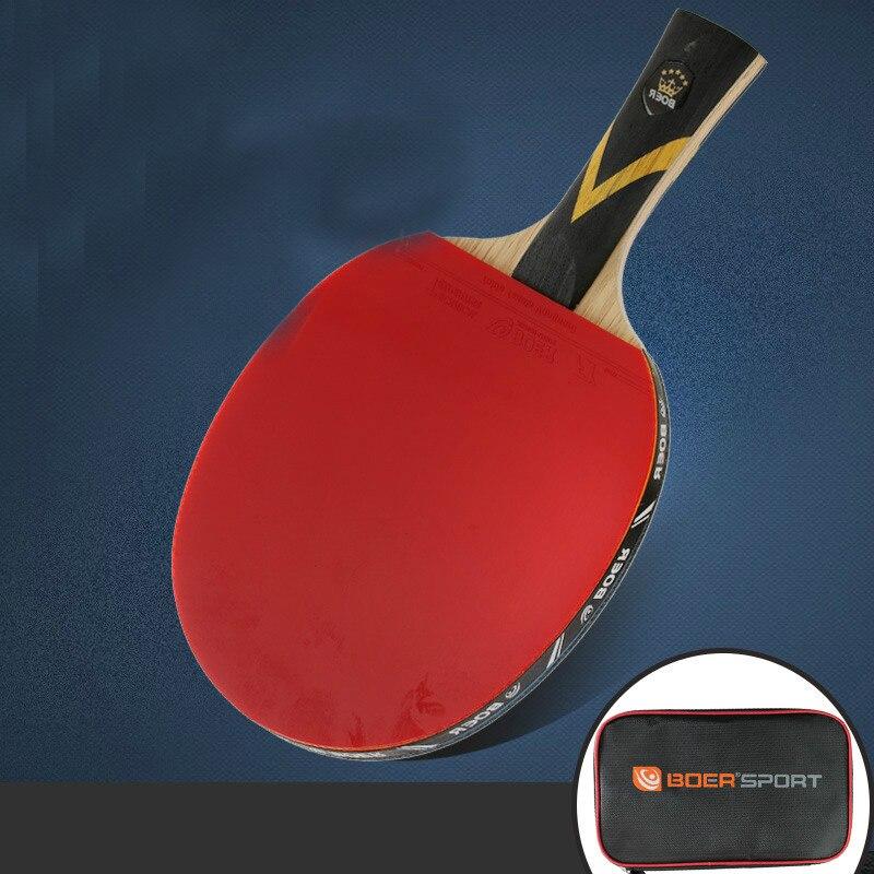 1 Piece S7 Level Professional Carbon Fiber 7 Layers Tung Wood Table Tennis Bat Racket Long Short Handle Ping Pong Paddle Racket