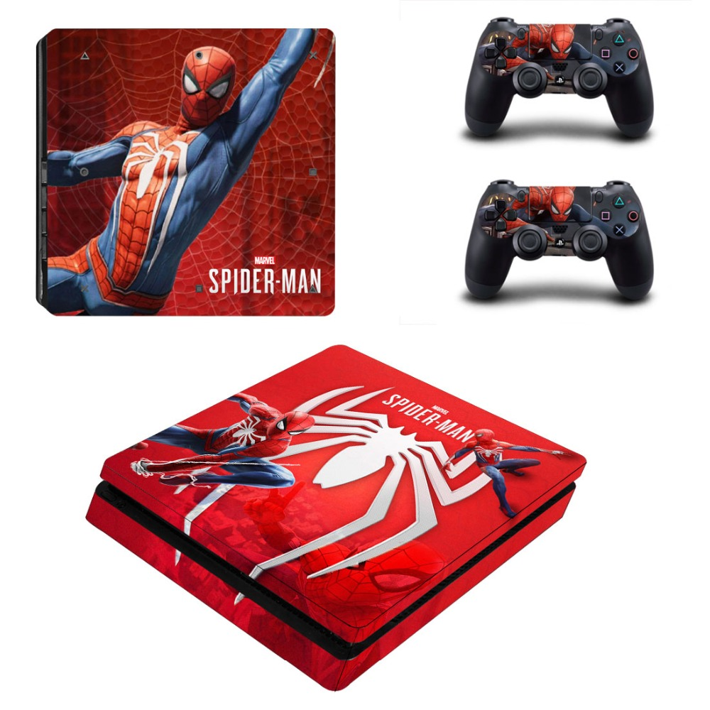 Faceplates, Decals & Stickers Spider Man Marvel Xbox One S Slim Consoles Controllers Vinyl Skin Decal Stickers Video Game Accessories