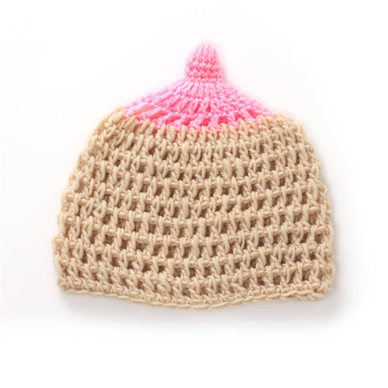 Lovely Breast Feeding Boob Nipple Crochet Baby Girl Boy Hat Accessories  Newborn 12Months Knitted Beanie Infant Photo Props Cap on Aliexpress.com  f484294a98a0