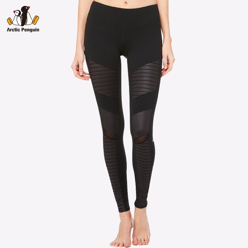 [AP] Women Yoga Pants Compression Sporting Leggings Running Tights Super Stretch Moto Mesh Legging Gym Clothes Workout Trousers