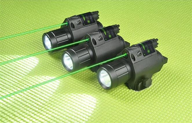 2in1 M6 Combo Tactical CREE Q5 LED Flashlight/LIGHT 200LM + Green / Red Laser Sight with Tail Switch For pistol/gun Handgun