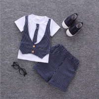 2017 Hot Boys Summer Clothes Sets Children Letter T Shirt Pants Kids Handsome Suits