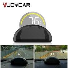 Espejo HUD OBD2 pantalla frontal de coche, proyector de parabrisas a bordo, ordenador, velocímetro, alarma de seguridad, temperatura del agua, exceso de velocidad, RPM