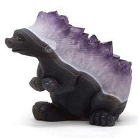 6 Ежик статуя натуральный агат Geode аметистовая Друза кристалл резные ремесла