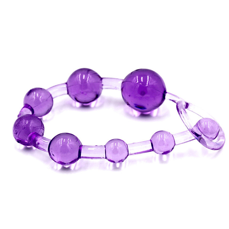 Flirt Silicone Butt Plug 8 Balls Anal Beads Prostate Massage G-spot Jelly Anal Plug With Pull Ring Fetish Adult Erotic Sex Toys