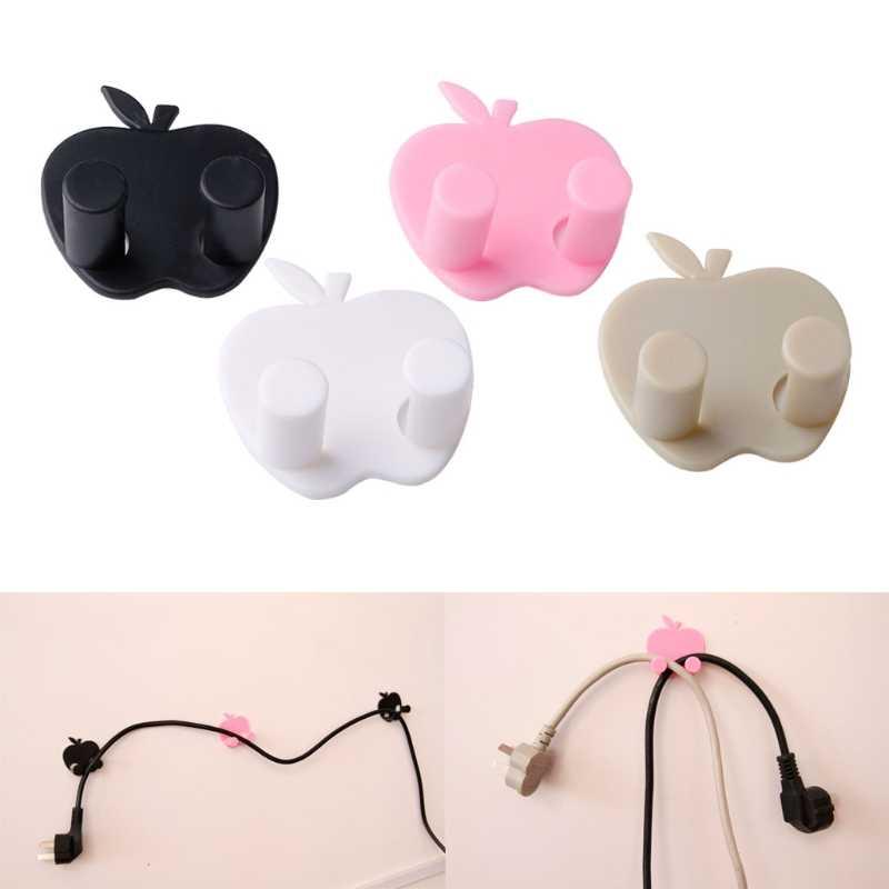 Новый яблоко-образный разъем питания провода гнездо крюк держатель Вешалка для сумок домашняя стена