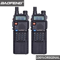 "dual band vhf uhf 2pcs Baofeng UV5R 3800 mAh ארוך טווח מכשיר הקשר 10 ק""מ Dual Band UHF & VHF UV5R Ham Hf במקלט נייד UV 5R תחנת רדיו (1)"