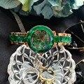 Брендовые классические часы-браслет из смолы с цветочным рисунком для женщин, нейтральные Дизайнерские летние модные зеленые наручные час...