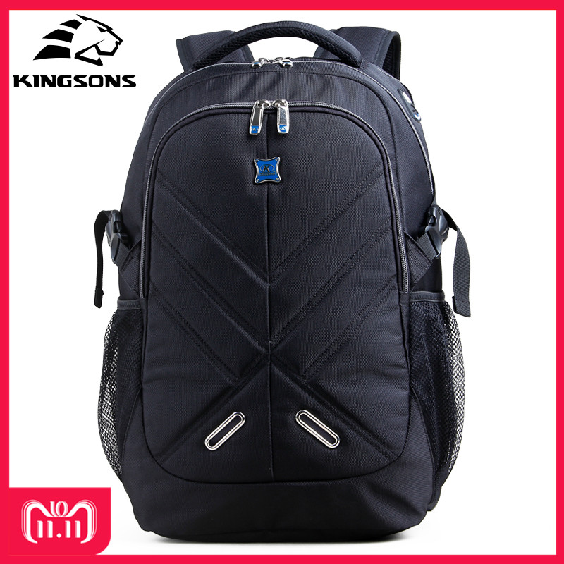 Kingsons Shockproof 15.6 inch Laptop Backpack Male Bag Large Capacity Notebook Bagpack Teenager Boy Mochila Militar School Bags