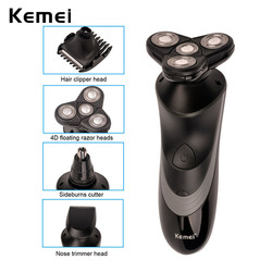 4d floating kemei 4 in 1 washable rechargeable electric shaver nose hair trimmer triple blade electric.jpg 250x250