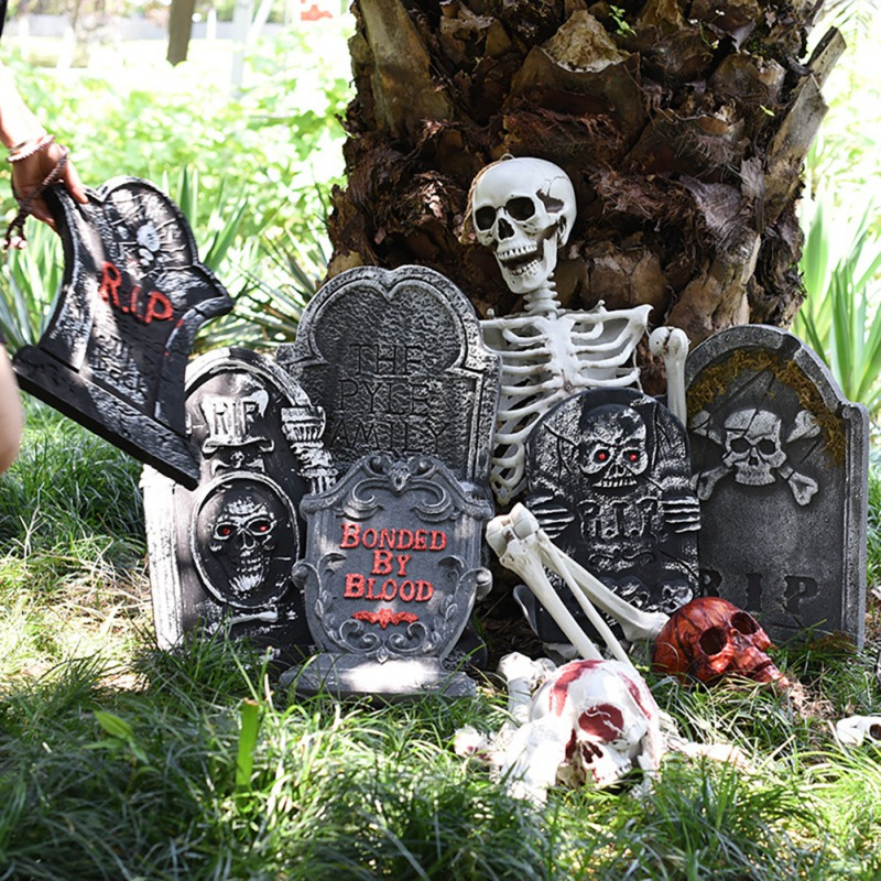 Halloween Foam Tombstone Skeleton Tombstone Haunted House Bar Stone Grisly Props Party Decor Yard Decoration in Party DIY Decorations from Home Garden