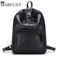 Hot Sale Pu Leather Backpack Women Backpack Fashion Black Backpacks For Teenage Girls School Bags Famous