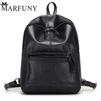 Hot Sale Pu Leather Backpack Women Backpack Fashion Black Backpacks For Teenage Girls School Bags Famous Brand Women Bag Mochila