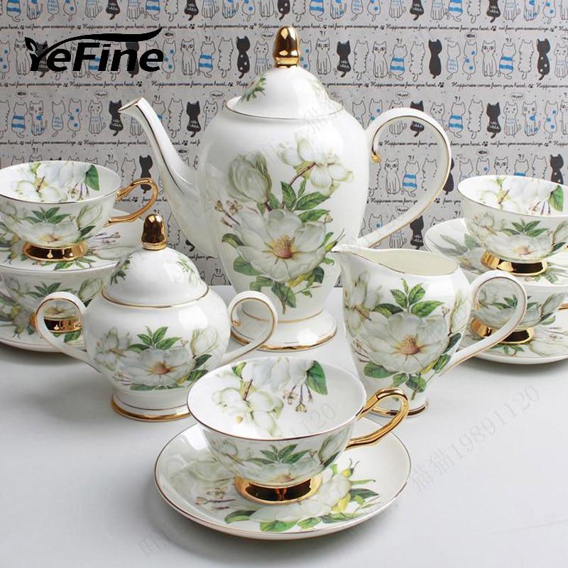 English Tea Supplies: YeFine Wedding Gift Bone China Coffee Cup Set Luxury