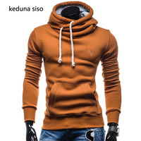 New 2017 Autumn Hooded Hoodies Men Fashion Brand Pullover Solid Color Turtleneck Sportswear Sweatshirt Men S