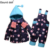 Baby girls boys winter outerwear coats clothing set kid thicken down snow wear overalls infant jumpsuit snowsuit down & parkas