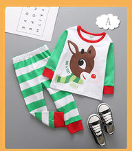21Styles Baby Christmas elk Pajamas sets Infant Santa Claus Deer Sleepwear  Suits for 2-6T Kids 7d6654a14