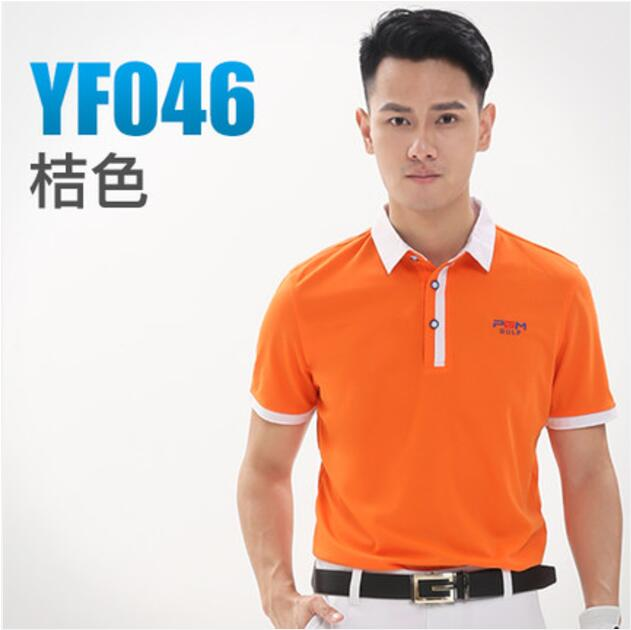 Durable PGM Outdoor Sport Polo Quick Dry Short Glof Shirt Men T-shirt Breathable Cotton Golf Short Sleeve Shirts,Free shipping