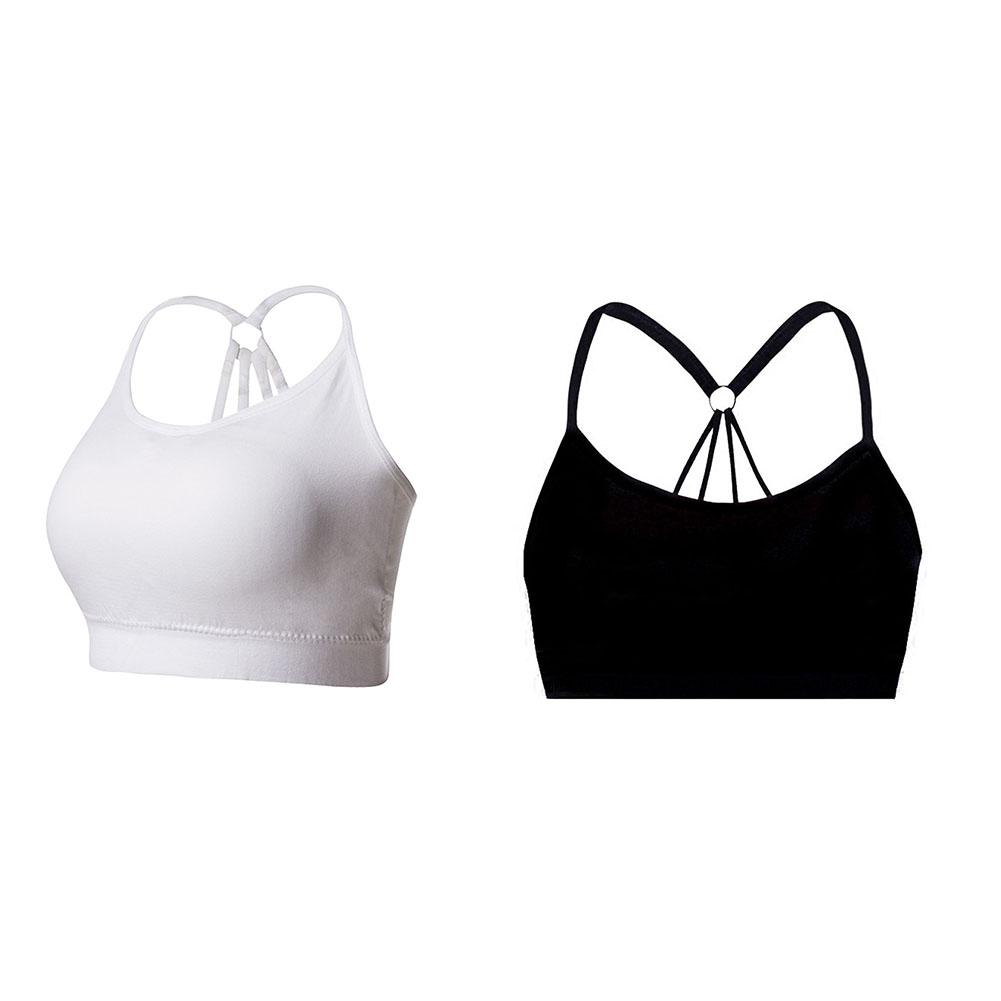 New Sexy Women Casual Exercise Wrapped Chest Crop Top Back Parachute Solid Lingerie Bra Female Covered Yarn Sports Lingerie Bra