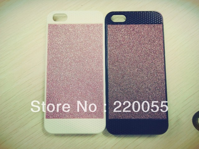 Free shipping  cell phone case for iPhone5 5G with shimmering powder