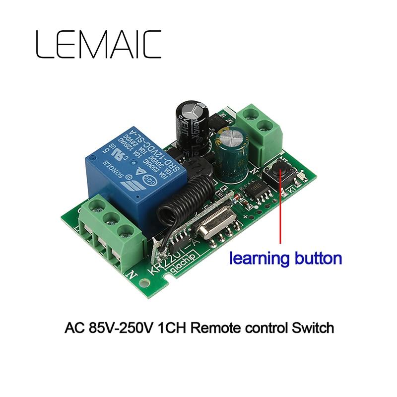 433 mhz Universal 1 Ch Relais Drahtlose Fernbedienung Licht Schalter ...