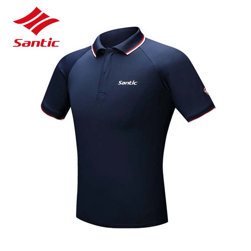 Santic Men Cycling Jersey 2018 Short Polo T-shirt Bike Jersey MTB Road Bicycle Clothing Quick Dry Breathable TOPS Ropa Ciclismo cheji men original camouflage green cycling jersey mtb outdoor breathable bike short sleeve clothing bicycle jersey s 3xl