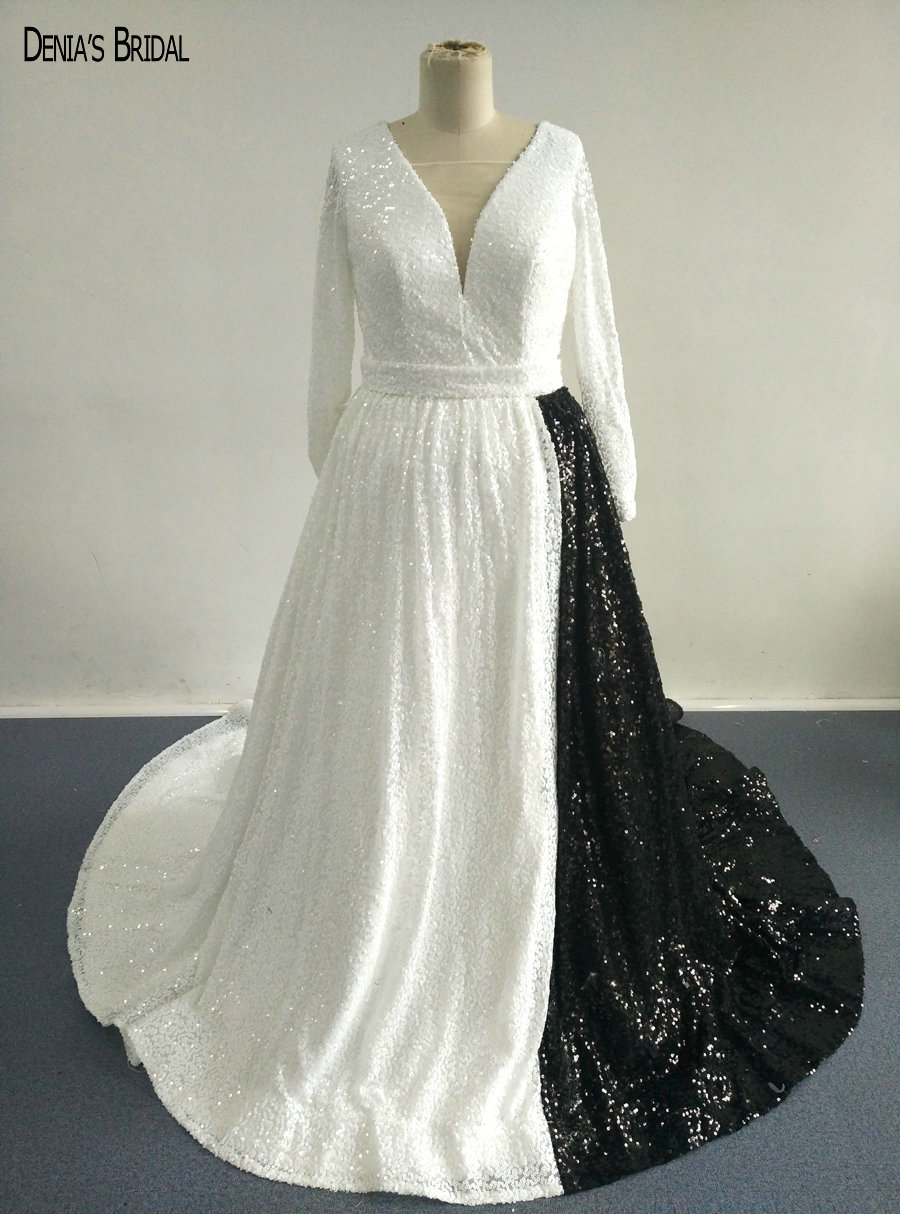 Online Buy Wholesale White And Black Wedding Dress From China