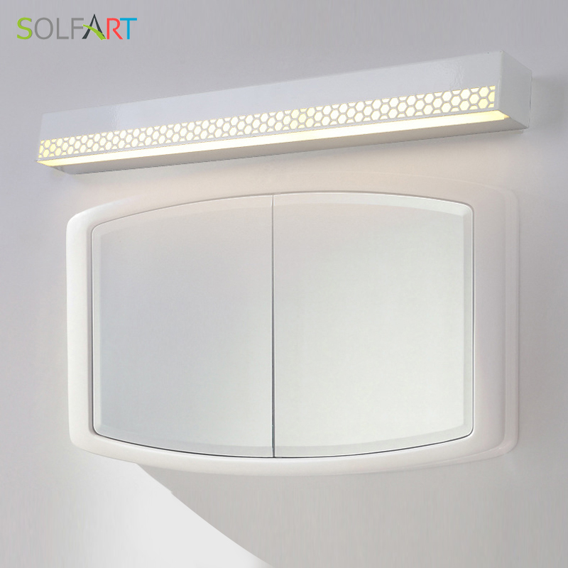 SOLFART wall lamp modern led sconce wall lights acrylic Mirror front lamp bathroom washing room makeup mirror cabinet PS7589 luxury modern white acrylic 12w led bathroom wall lamp mirror front fashion wall light showroom washroom wall lamp