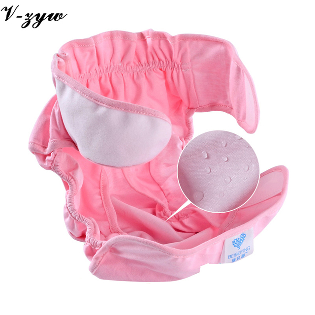 3 Colors Baby Diapers Pants Breathable Waterproof Pocket Diaper to Prevent Side Leakage Cotton Cloth Diaper Baby Training Pants