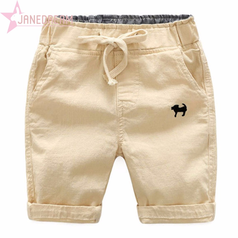 Janedream Summer Beach Baby Infant Boy   Shorts   Casual Embroidery Children Pants Trousers Clothing Elastic Waist Thin Kids #273904