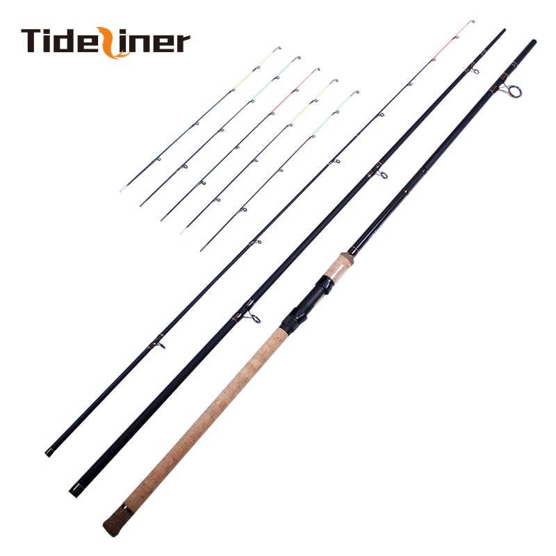 Feeder fishing rod 3.6m 3.9m 90g 230g three quivertips *2 great carbon fiber river fishing rod feeder carp spinning fishing gear-in Fishing Rods from Sports & Entertainment    2